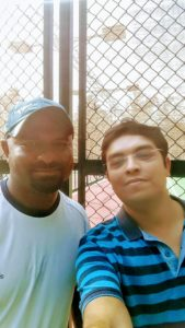 S. Praveen Kumar (L), Head of Mahesh Bhupathi Tennis Academy takes care of some of the best tennis talents in the country.
