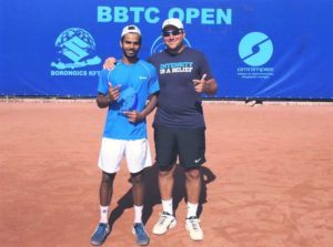 Sumit Nagal and his coach Mariano Delfino. Sumit trained under him at Schüttler Waske Tennis-University