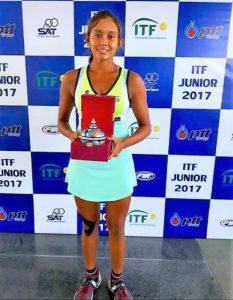 Salsa Aher-India`s rising tennis star