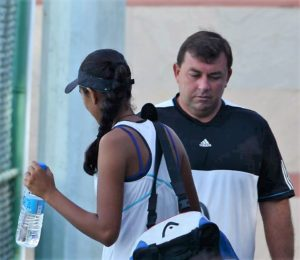 Todd Clarke- tennis director at Ahmedabad Racquet Academy and coach of Zeel Desai