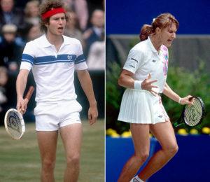 Dunlop- John McEnroe and Steffi Graf