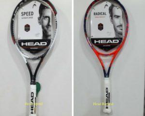 Head Racket - Novak Djokovic , Andy Murray