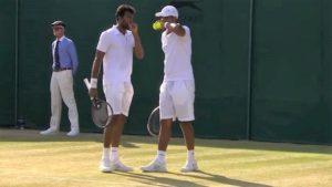 Sriram Balaji & Vishnu Vardhan at the Wimbledon 2018