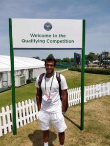 Sriram Balaji, Wimbledon 2018